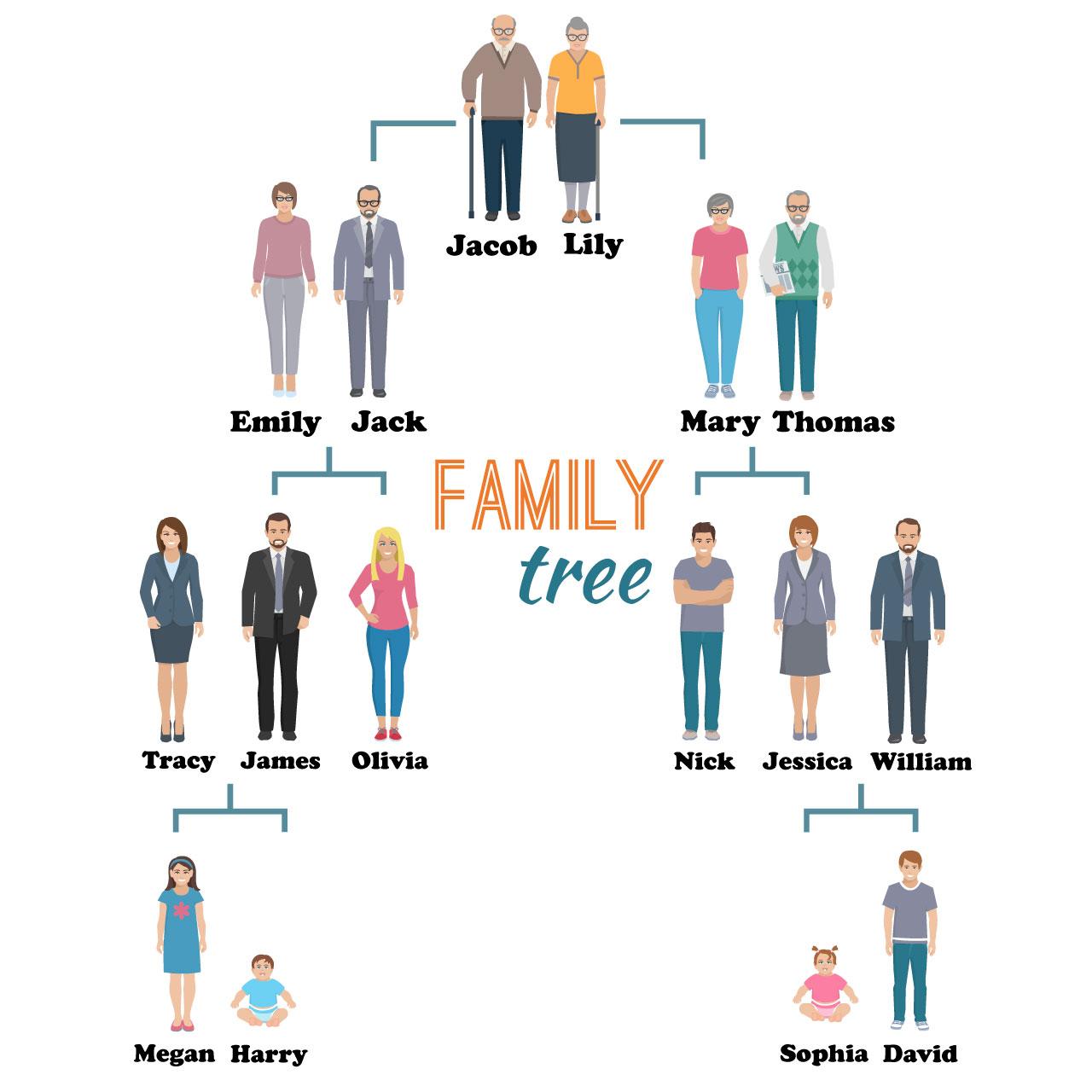 слова на тему семья на английском
