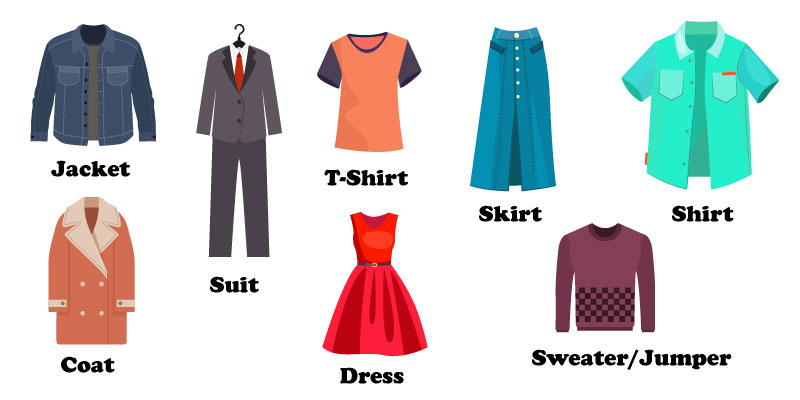 Слова на тему одежда на английском языке