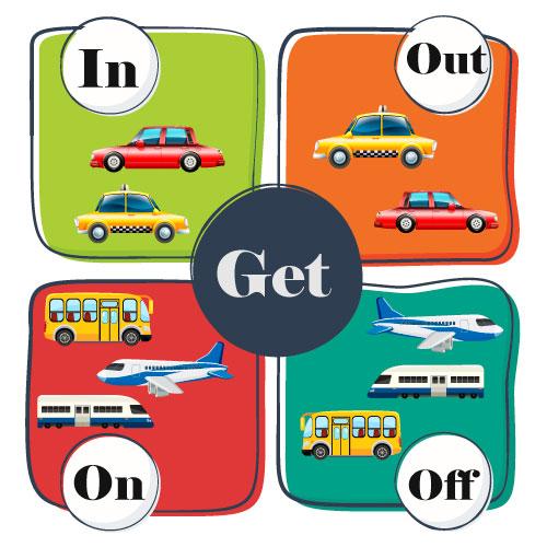 предлоги с транспортом в английском языке