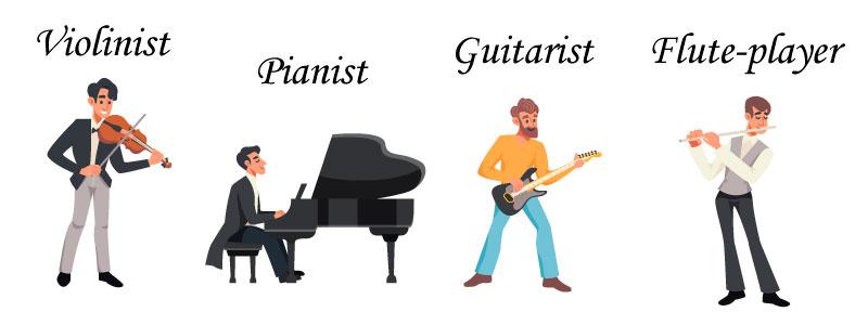Музыканты на английском