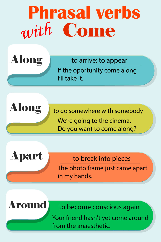 Come фразовые глаголы