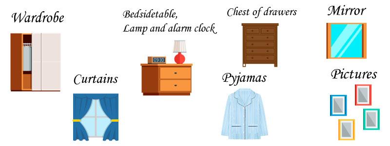 спальня на английском языке