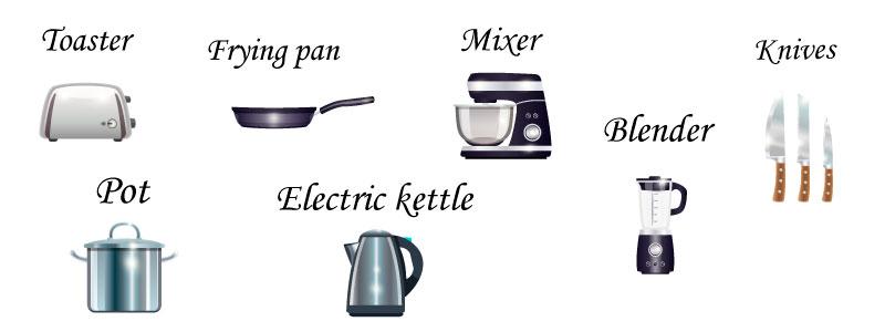 Кухня на английском
