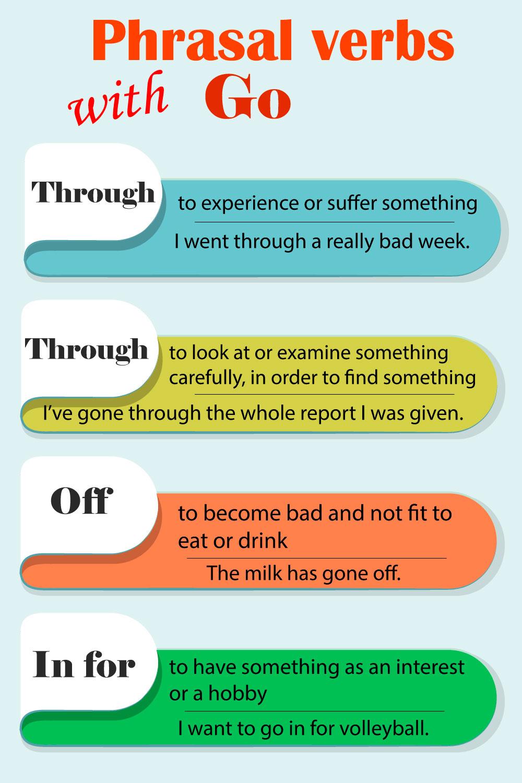 Go фразовые глаголы
