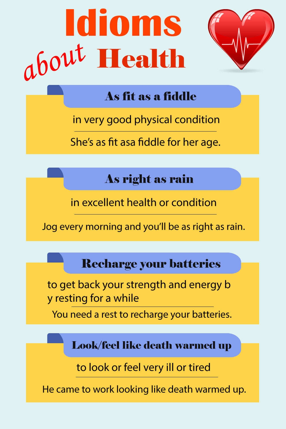 Idioms about health