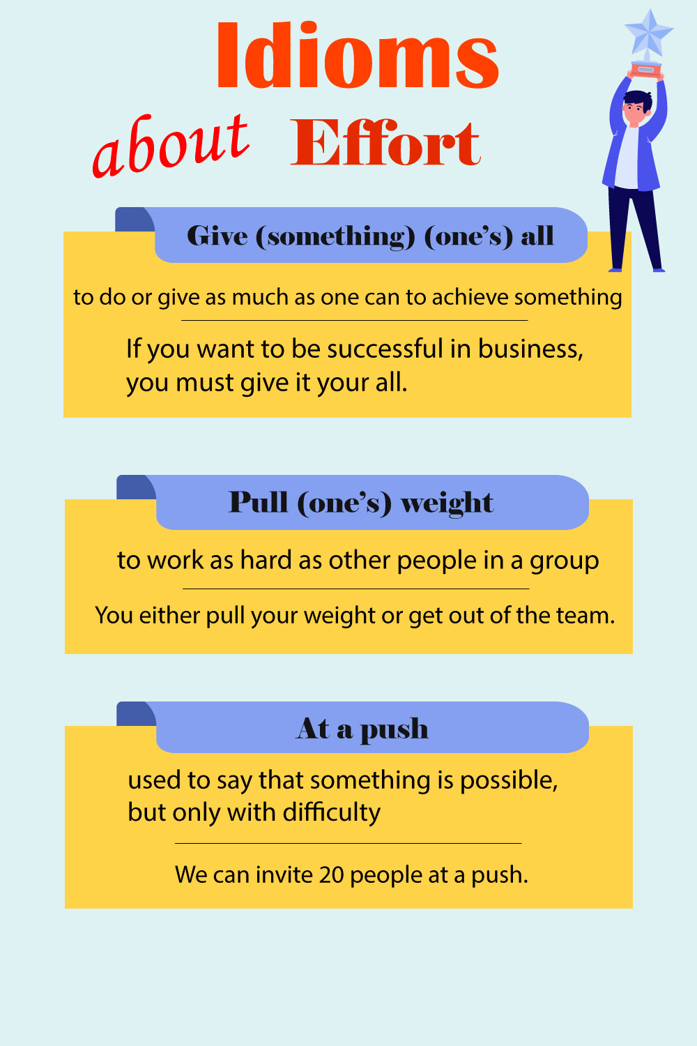 Idioms about effort