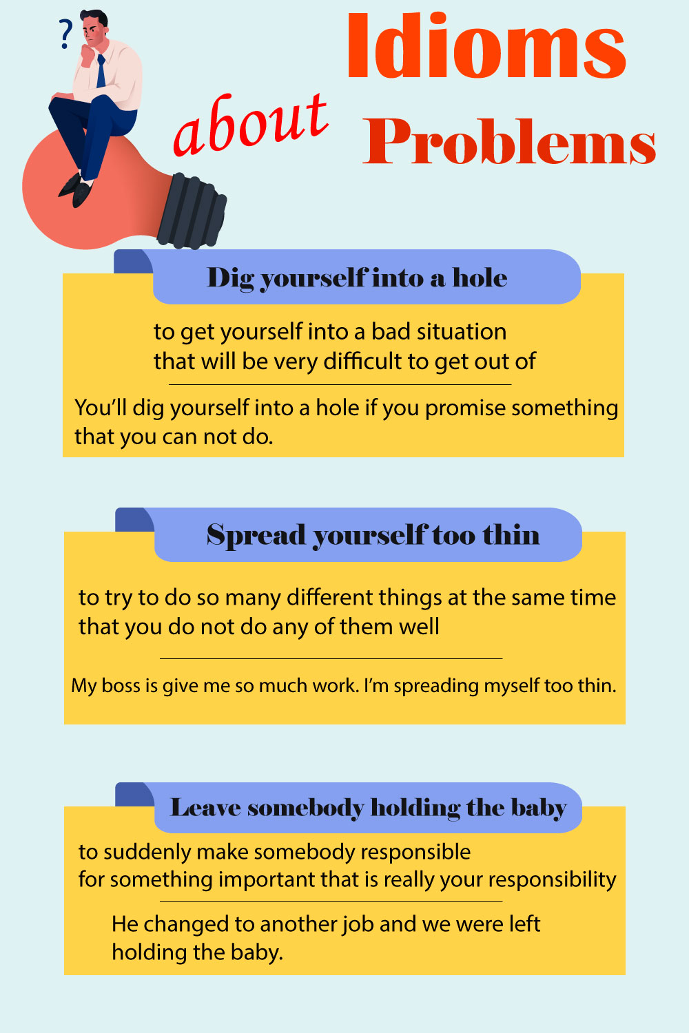 Idioms about problems