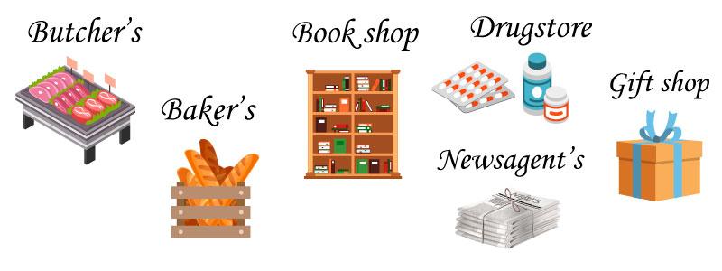 Магазины на английском языке