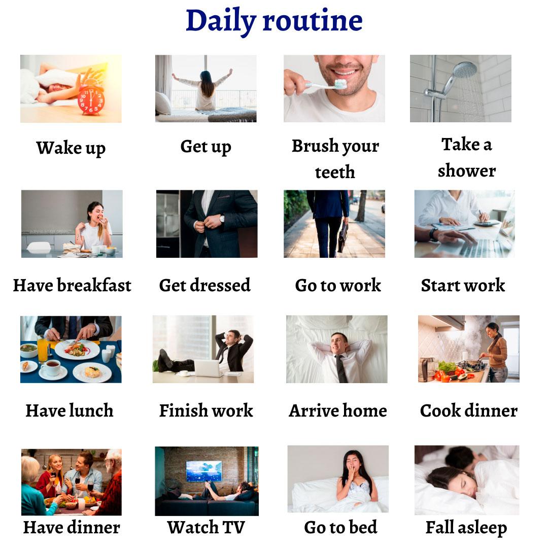 Повседневные дела на английском