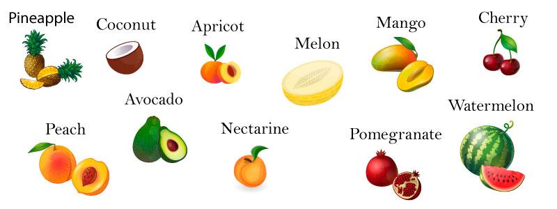 фрукты английский язык