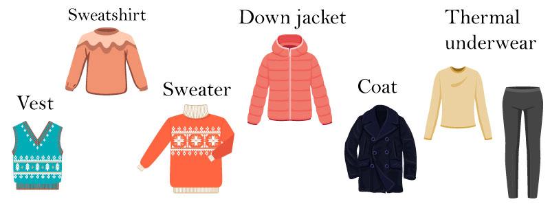 Зимняя одежда на английском