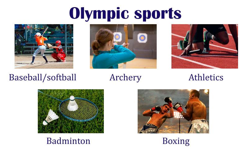 Слова на тему виды спорта на английском