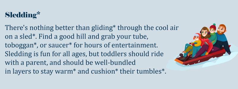 Зимние забавы на английском